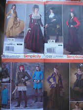 Sewing pattern Simplicity misses Steampunk costume dress  U PICK 6-12 or 14-22