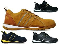 MENS STEEL TOE CAP LEATHER/SUEDE WORK LACE UP SAFTY TRAINER UK SIZE 6 TO 12