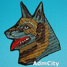 Dog Wolf Animal Iron on Patch Embroidered Applique Biker Rock Badge Wild Family