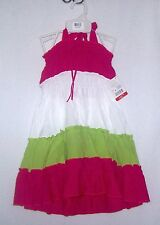 NWTS LELE FOR KIDS FUCHSIA TIERED CONVERTIBLE DRESS SIZES 4-6 EVERYDAY WEAR