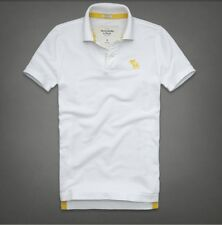 Mens Abercrombie and Fitch polo shirts-Mens A & F-Mens polo shirt  - White