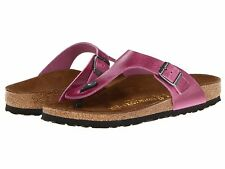 Birkenstock / 41 N Gizeh Deep Orchid Thong Leather Sandals GERMANY $120 msrp NIB