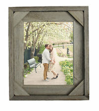 Salvaged Reclaimed Wood Picture Frame-Corner Block detail