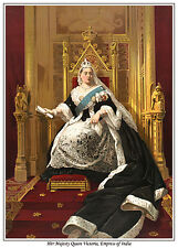 QUEEN VICTORIA, EMPRESS OF INDIA ART PRINT. NOW AVAILABLE AS CANVAS PRINT, TOO !