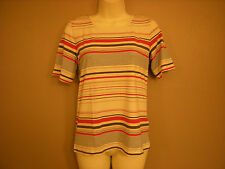 New Ladies M*S Short Sleeved Striped T-Shirt Top 8 10 12 14 16 18 20 22 24 (HE)
