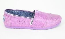 Toms Youth Kids Lilac Glitter Classic SALE