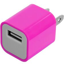 Hot Pink Wall Travel Home AC Charger Adapter for Cell Phone iPhone 5S Galaxy S4