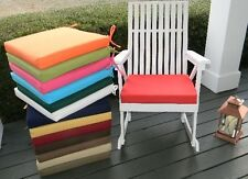 """18""""X18""""X2"""" Foam Cushion Pad for Rocker Rocking Chair  -  SOLID COLORS - Outdoor"""