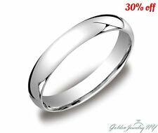 Mens Women Solid 10K White Gold Plain Wedding Band Comfort Fit  2MM-7MM