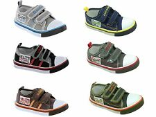 Boys Infant Chatterbox Canvas Straps Trainers Plimsolls Pumps Shoes Size