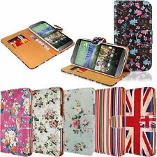 10X WHOLESALE PRINTED RETRO FLOWER WALLET FLIP CASE COVER FOR SAMSUNG SONY LG