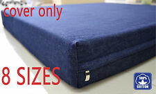 Buy 2 discount Premium Denim Jean replacement external zipper cover for dog bed