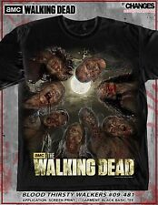 THE WALKING DEAD BLOOD THIRSTY WALKERS ZOMBIE TV SCARY NIGHT T SHIRT S-3XL