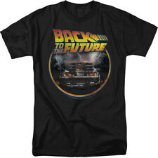 Back To The Future Movie Logo Delorean Licensed Adult Shirt S-3XL