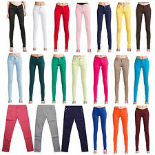 womens women Casual Pencil Skinny Leg Jeggings Pants Stretchy Jeans