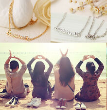 Gold/Silver BEST FRIEND Letters Pendant Chain Necklace Jewelry Best Friends Gift