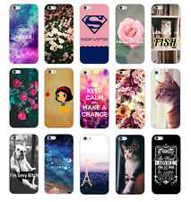 Various Fashion Pattern Hard Case Cover Back Protector For Apple Iphone 5 5S 6