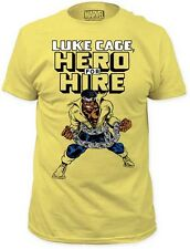 Marvel Comics Luke Cage Hero For Hire Licensed NWT Adult T-Shirt - Yellow