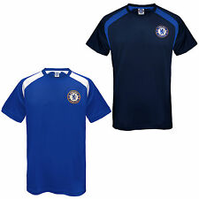 Chelsea FC Official Football Gift Mens Poly Training Kit T-Shirt (RRP £19.99!)