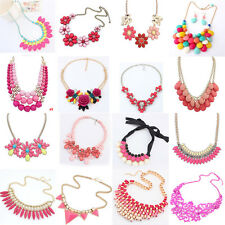 Hot Sale Women Fashion Pearl Crystal Choker Bib Necklace Jewelry Pendant Charm