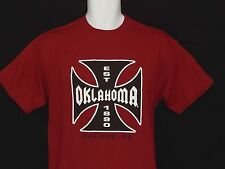 Oklahoma OU Sooners Tee Shirt Mens Sizes NCAA Team Edition Apparel Crimson