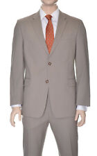 Tommy Hilfiger Trim Fit Solid Tan Two Button Wool Suit