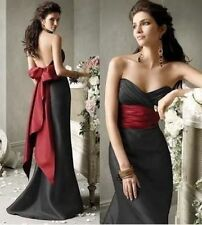 Black Long Evening Formal Party Ball Gown Prom cocktail Wedding Bridesmaid Dress