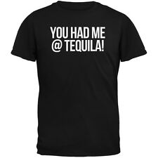 Cinco de Mayo - You Had Me at Tequila Black Adult T-Shirt