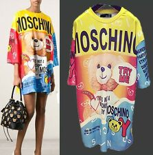 2015 Women's Love Comic Bear Try Me Cartoon Moschino Mini Dress Tee Shirt Relax