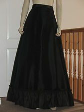 Victorian/Edwardian style Grand Parlour Skirt   (Black)
