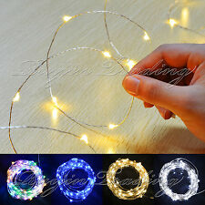40 LED BATTERY OPERATED MICRO SILVER WIRE STRING FAIRY XMAS PARTY WEDDING LIGHT