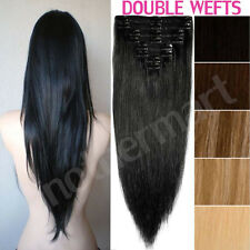 Appeal Thick Double Wefted Clip In Remy Human Hair Extensions Full Head US B20