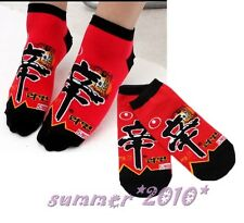 Hot Spicy Nong Shim Shin Ramyun Ramen Noodle Fun Socks Red Socks for Men Women