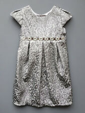 Biscotti Silver Metallic Little Girls Party and Holiday Dress