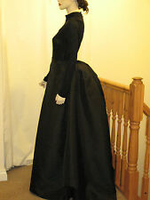 Victorian/Edwardian Style Ladies Black Bustle Skirt