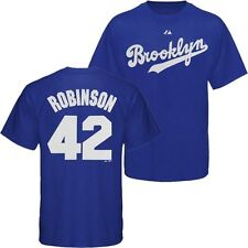 Brooklyn Dodgers Jackie Robinson Cooperstown Name & Number T-Shirt by Majestic