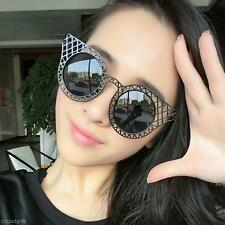 Chic Lady Women Hollow Out Sunglasses Vintage Metal Arms Eyeglasses Shades