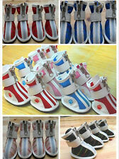 New Dog Pet Puppy Boots Cozy Sports Mesh & PU Leather Shoes For Small & Big Dog