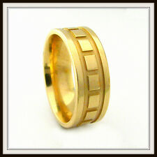 18 KT SOLID YELLOW GOLD CUSTOM MADE WEDDING BAND FOR MEN AND LADIES DE 0010