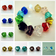 FREE Lot #5020 Faceted Crystal Helix Rondelle Charms Spacer Beads Findings 6mm