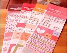 Romance Fabric Sticker Cotton Satin Diary Scrapbooking, Cardmaking Crafts P069