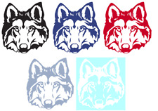 WOLF HEAD VINYL GRAPHIC CAR DECAL/STICKER - CHOICE OF 5 COLORS AND 2 SIZES