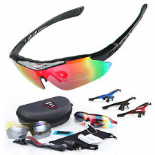 OBAOLAY Polarized Cycling Glasses 5 Lens Bicycle Sports Goggles UV400 Sunglasses