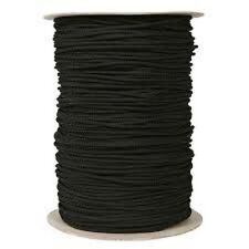 "Drawstring cord 1/4"" 100% polyester Round Braided  White or Black 144 or 10 yard"