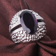 18K white gold filled attractive purple Swarovski crystal charm rings Sz6to10