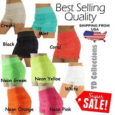 New Sweet Lace Embroidery Mini Tiered Short Skirt Under Safety Pants Shorts Hot