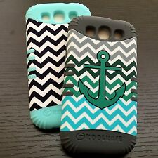 For Samsung Galaxy S3 - HARD & SOFT RUBBER HYBRID IMPACT ARMOR SKIN CASE COVER
