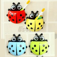 1PC New Design Charming Suction Tooth Brush Holder Ladybug Pattern Wall Mounted