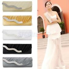 Women Crystal Evening Party Prom Wedding Clutch Handbag Shoulder Chain Bag Purse