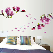 Removable Wall Sticker Wall Decor Magnolia blossoms Tree flower Cherry branches